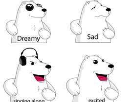 #37 for Design a cartoon character: cute metalhead polar bear by luisraulag