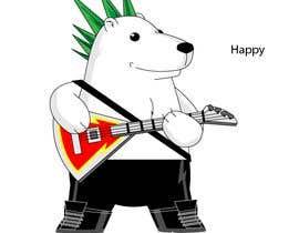#38 for Design a cartoon character: cute metalhead polar bear by luisraulag