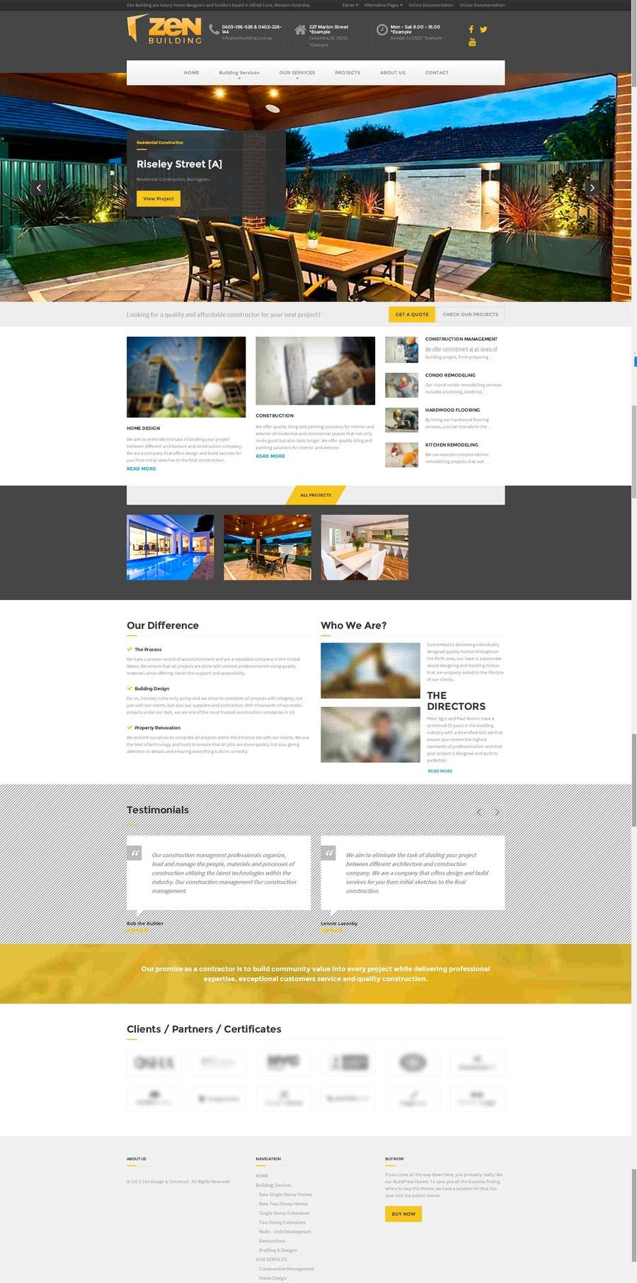 Contest Entry #46 for Design a Website Mockup for Construction Company