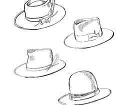 Nro 15 kilpailuun Simple Hat Sketches käyttäjältä NatalieNikkol