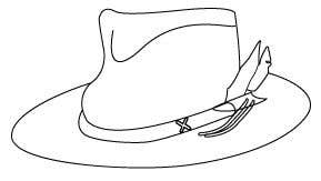 Kilpailutyö #                                        7                                      kilpailussa                                         Simple Hat Sketches