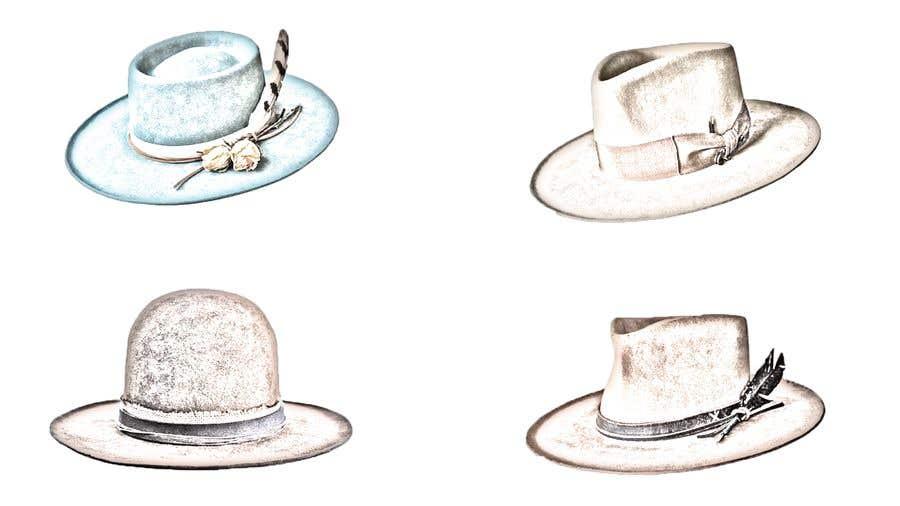 Kilpailutyö #                                        10                                      kilpailussa                                         Simple Hat Sketches