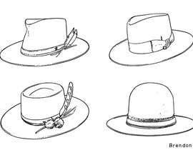 Nro 20 kilpailuun Simple Hat Sketches käyttäjältä brendonart