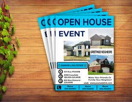 #15 для Create an open house flyer.  I attached the information and layout I want.  I also attached the 3 pictured I would like to use as well. от kabir3400