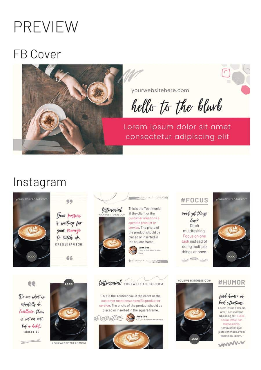 Contest Entry #                                        15                                      for                                         Social media graphic designed templates x 4