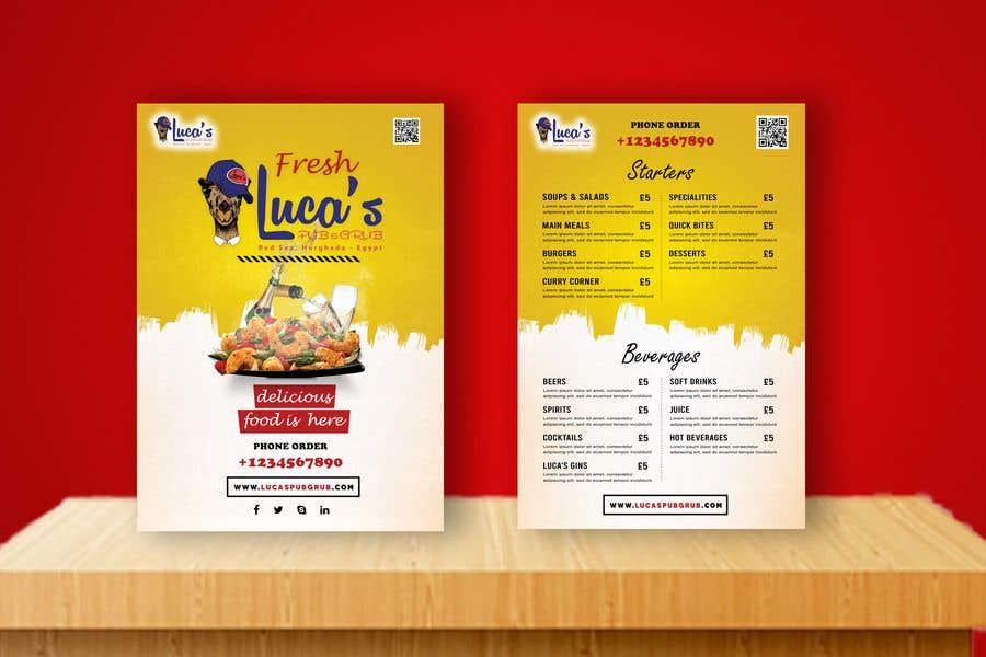 Bài tham dự cuộc thi #                                        19                                      cho                                         Design me an editable Sports Pub Food Menu