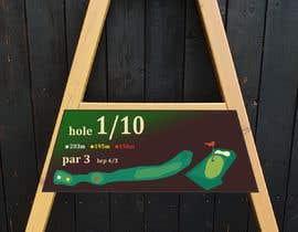 #1 cho golf hole info board design bởi mughal8723