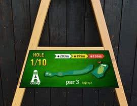 #16 cho golf hole info board design bởi mughal8723