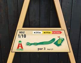 #22 cho golf hole info board design bởi mughal8723