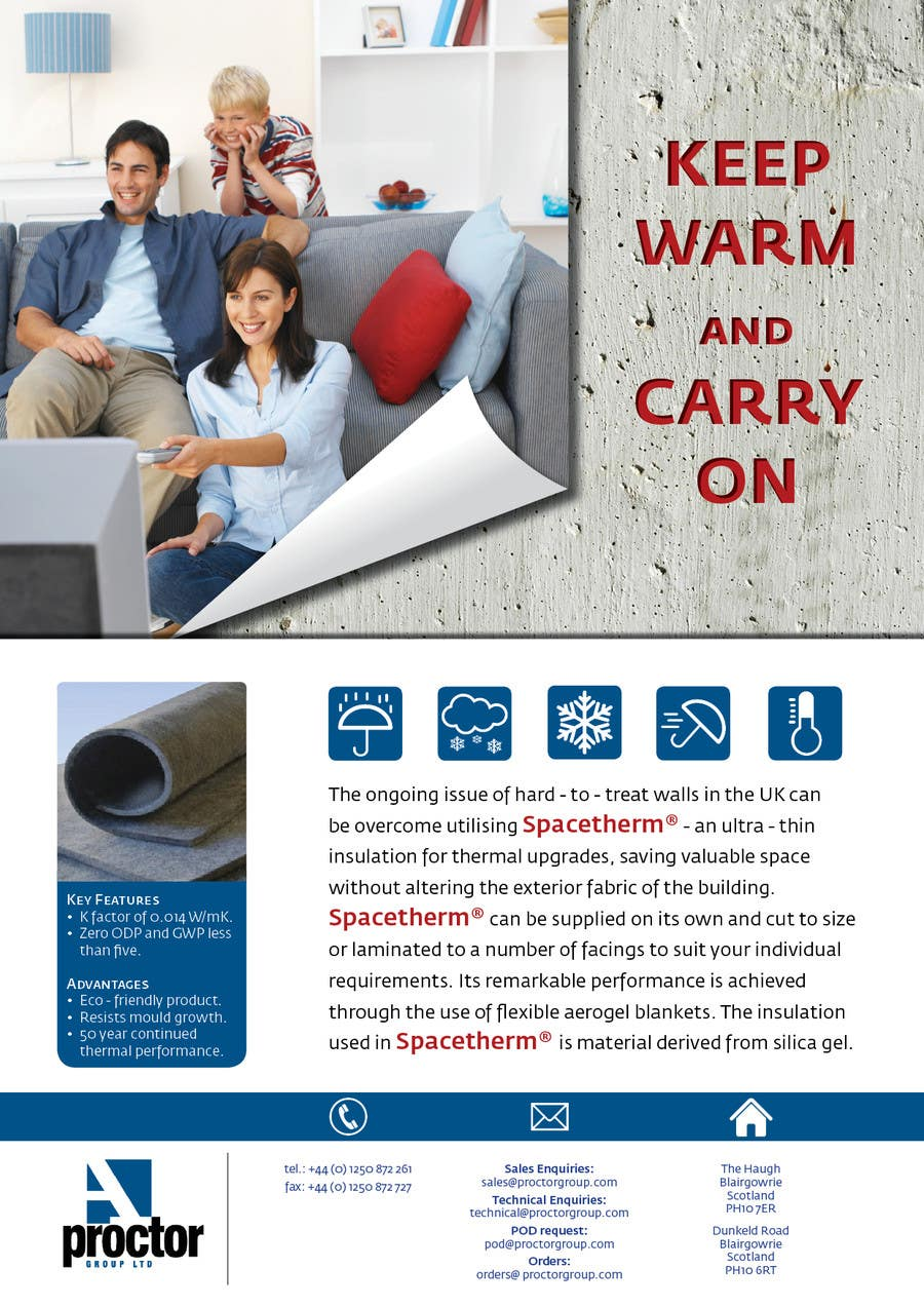 Advertisement Design Contest Entry #92 for Advertisement Design for Spacetherm (Construction)