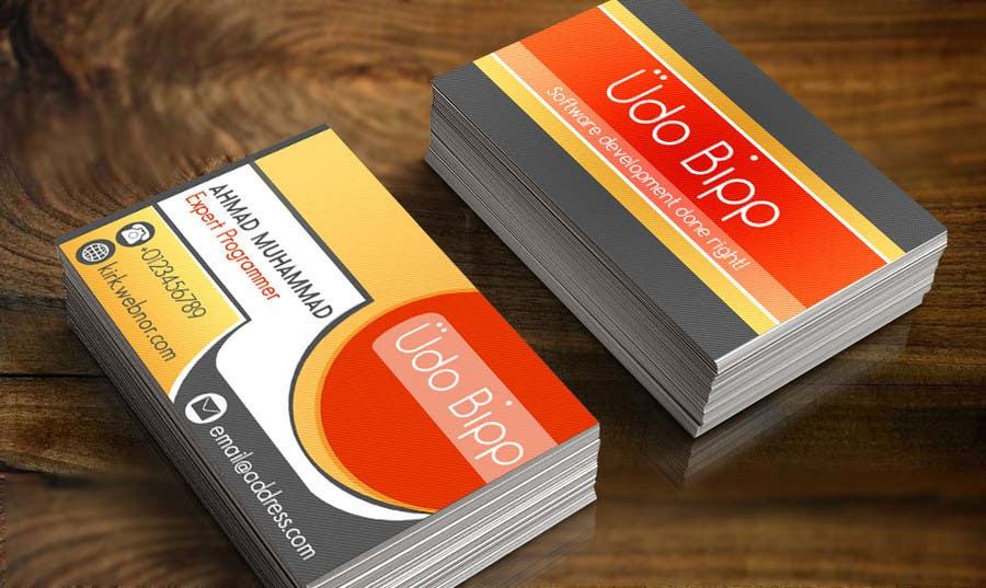 Penyertaan Peraduan #80 untuk Design some Business Cards for Udo Bipp