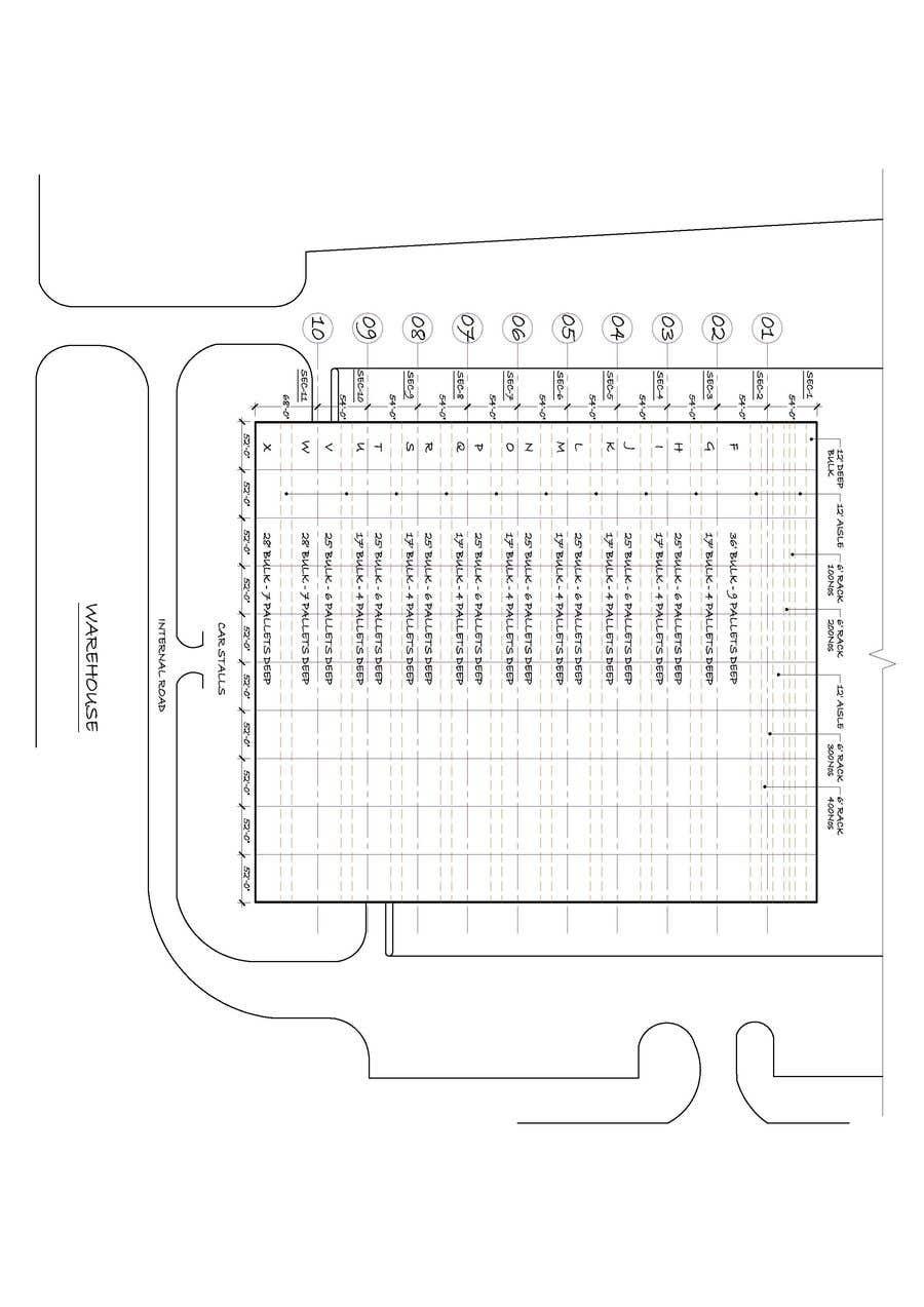 Bài tham dự cuộc thi #                                        12                                      cho                                         CAD drawing for a warehouse