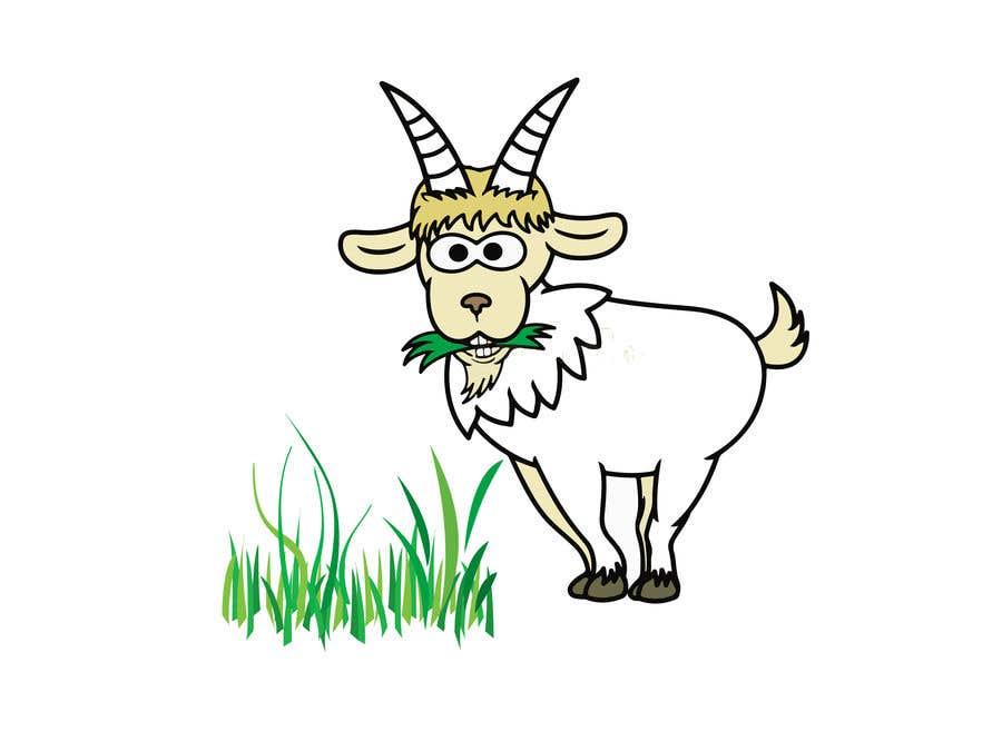 Bài tham dự cuộc thi #                                        5                                      cho                                         Cartoon goat eating christmas lights