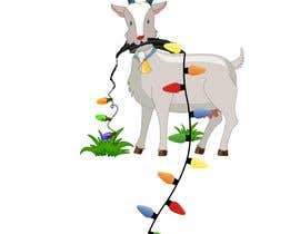 #14 cho Cartoon goat eating christmas lights bởi jhaankitkumar12