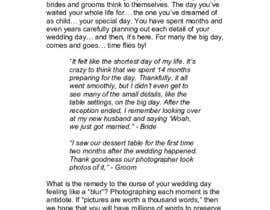 JordanAMiller tarafından Write blog article - Wedding Photography için no 11