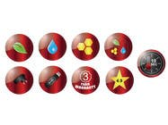 8 ICONS / BADGES için Graphic Design7 No.lu Yarışma Girdisi