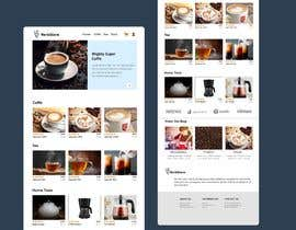 #49 cho landing page design for a coffee and tea online store bởi rubeya19988