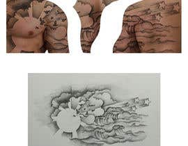 #10 for Design & Illustrate a Landscape Canvas For A Tattoo (Sun/Clouds/Birds/Stars/Waves) af HohoDesign