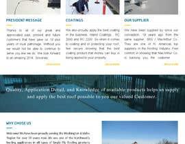 #22 pentru Website design for Roofing company de către sqhrizvi110