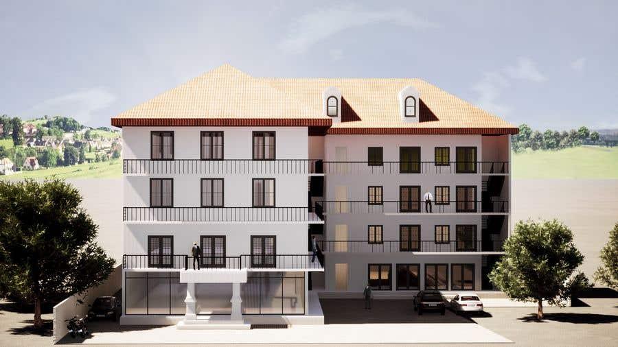 Bài tham dự cuộc thi #                                        4                                      cho                                         3 D Elevation for a Commercial Building