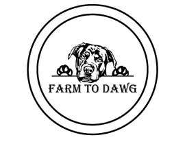 "#31 for I'm looking for logo for a brand named ""Farm To Dawg"" and or ""Raw Dawg"" that incorporates the image of a frenchie with carrots in its mouth. I'd like you to use the reference photos of the French Bull dog I attached. by tasnimmmmm"
