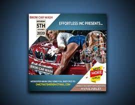 Nro 41 kilpailuun Create a square shaped flyer for a Bikini Car wash käyttäjältä ddcshohan