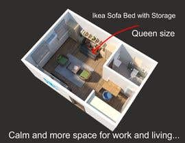 #95 for Design room layout for two 300 sq ft studio apartments by salirezaalaei