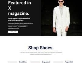 #8 для Bespoke Clothier Homepage Mock-Up от shahabasvellila