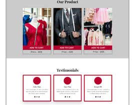 #21 для Bespoke Clothier Homepage Mock-Up от rafiulahmed24
