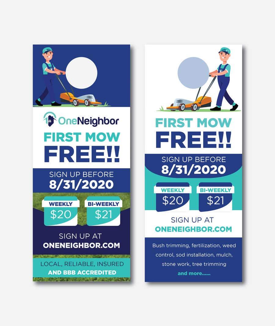 Proposition n°                                        99                                      du concours                                         Design Door Hanger Advertisement  - 05/08/2020 16:56 EDT