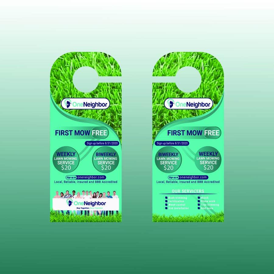 Proposition n°                                        59                                      du concours                                         Design Door Hanger Advertisement  - 05/08/2020 16:56 EDT