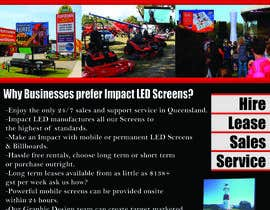 #8 pentru Design a Flyer for Impact LED Screens de către liquidom0092