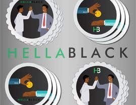 #23 for HellaBlack Sticker af hamzakhnnn