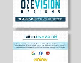 Nro 21 kilpailuun Create a Professional Post Card Designs for Reviews käyttäjältä Fazlul01