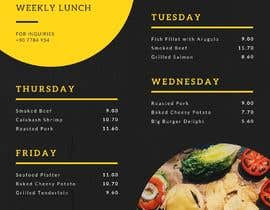 #34 for Refresh restaurant menu by mstalza323
