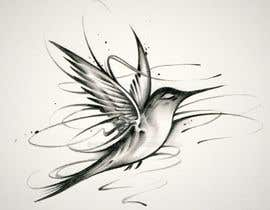 #323 for Bird design for tattoo on shoulder blade by Malou24