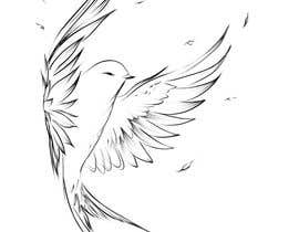 #287 for Bird design for tattoo on shoulder blade by andrianacehnak