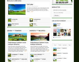 nº 8 pour Wordpress Theme Design for GB Golfer par gerardway