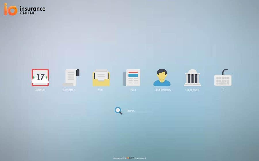 Bài tham dự cuộc thi #8 cho Design an Homepage mockup for an Intranet