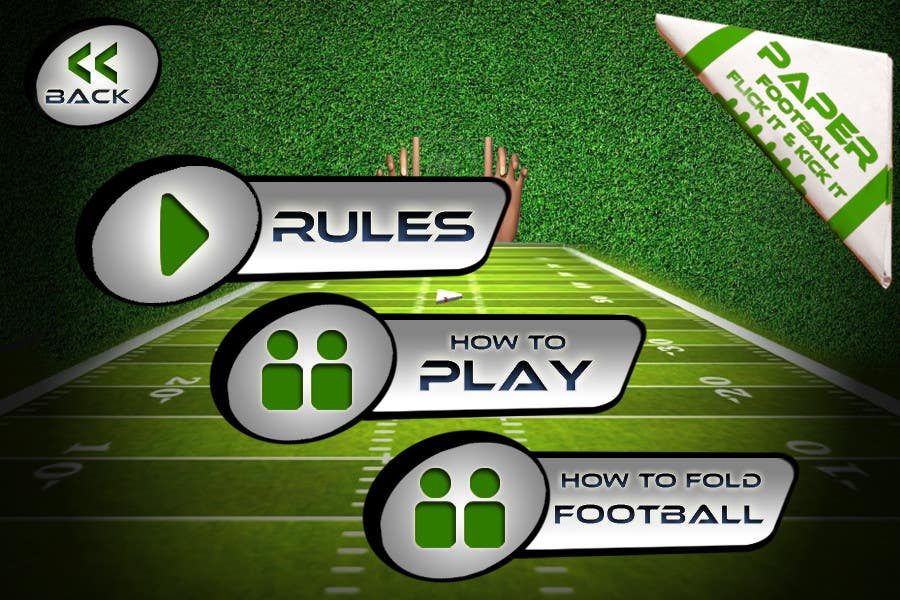 #142 for Graphic Design - Give our Paper Football Game Menus a NEW LOOK! by logodesire