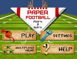 #115 cho Graphic Design - Give our Paper Football Game Menus a NEW LOOK! bởi M33illustrator