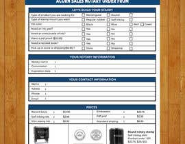 #144 for Design and Easy to Use Order Form / Flyer by baduruzzaman