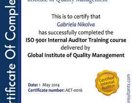 #29 for I need some Graphic Design for training certificate by ashstriker