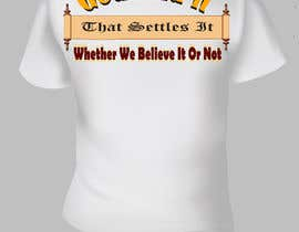 #15 for Scroll Design for back of White T-shirt by aHaMaria
