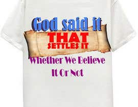 #23 pentru Scroll Design for back of White T-shirt de către aHaMaria