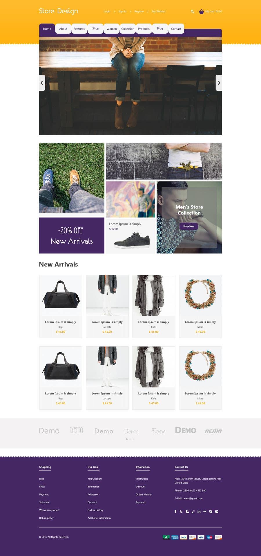 """Intrarea #5 pentru concursul """"Design a Website Mockup"""""""