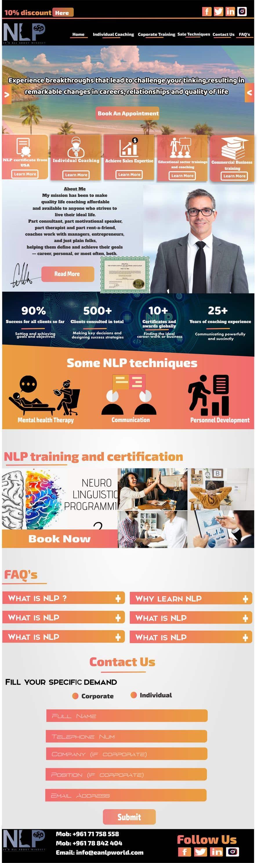 Penyertaan Peraduan #                                        38                                      untuk                                         design and build life coaching website