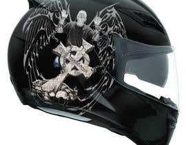 #41 untuk I need some Graphic Design for a Motorcycle Helmet oleh Martinnelmb