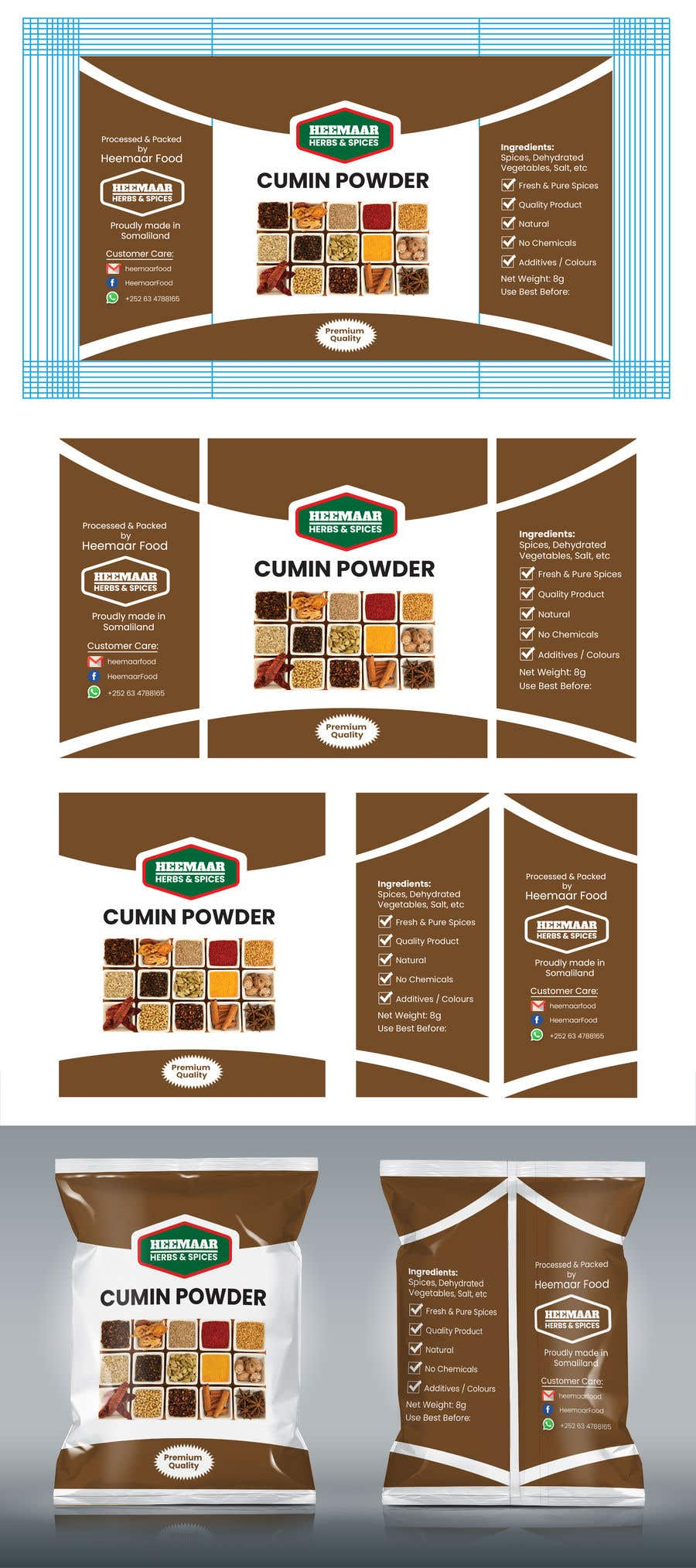 Konkurrenceindlæg #                                        21                                      for                                         Spice Pouch Packaging Design