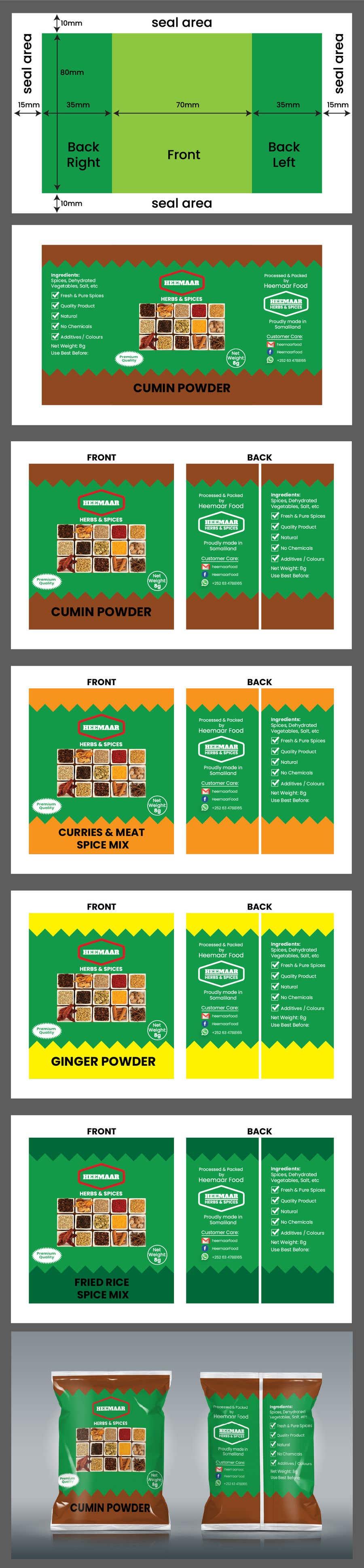 Inscrição nº                                         31                                      do Concurso para                                         Spice Pouch Packaging Design